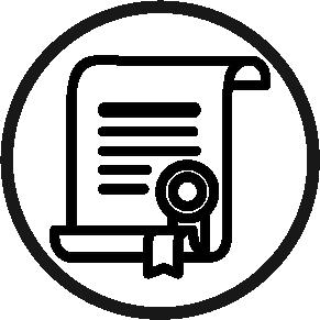 a certificate in a circle