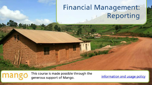 Financial management -Reporting