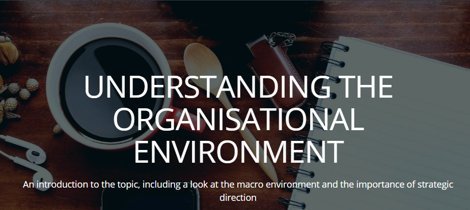 Understanding the organisational environment
